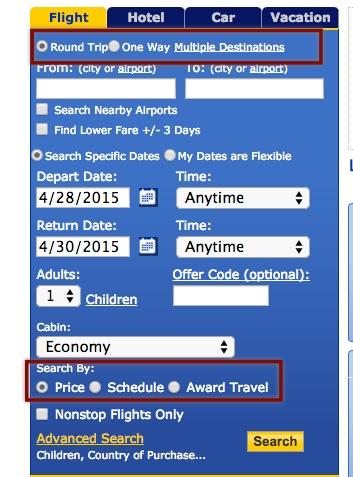 玩转UA里程 (1):简单的单程里程票